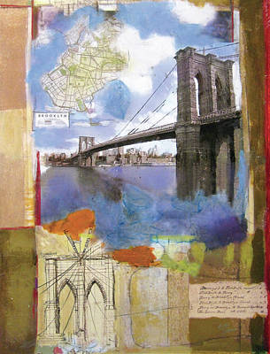 News Painting - Brooklyn Bridge II by Andrew Sullivan