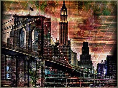 Mayfield Mixed Media - Brooklyn Bridge II by Christine Mayfield