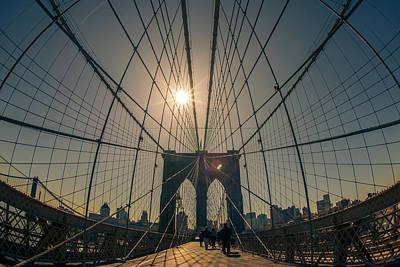Brooklyn Bridge Art Print by Peter Verdnik