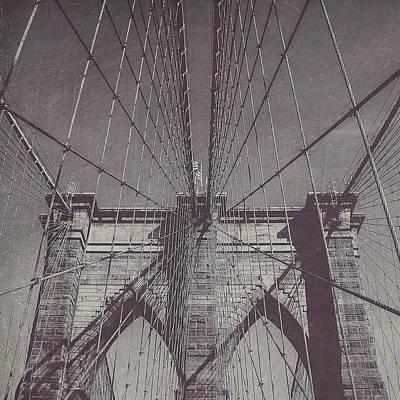 Brooklyn Bridge Photograph - Brooklyn Bridge In Black And White by Maren Misner