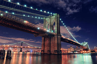 Photograph - Brooklyn Bridge In New York City by Songquan Deng