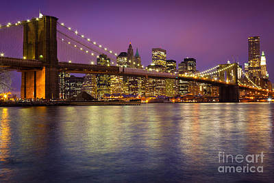 Brooklyn Bridge Art Print by Inge Johnsson