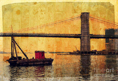 Photograph - Brooklyn Bridge by Jeff Breiman