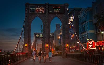 Photograph - Brooklyn Bridge In Las Vegas by Eduardo Tavares