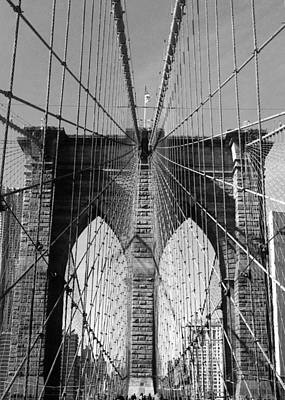 Photograph - Brooklyn Bridge by Lorella  Schoales