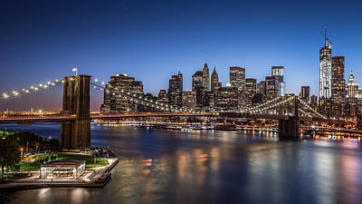Art Print featuring the photograph Brooklyn Bridge by Mihai Andritoiu