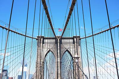 Photograph - Brooklyn Bridge, New York City by Deimagine