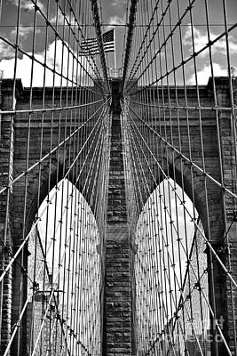 Brooklyn Bridge New York City Art Print by Peter Dang