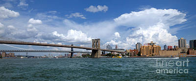 Landmarks Rights Managed Images - Brooklyn Bridge Panorama Royalty-Free Image by Amy Cicconi