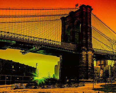 Photograph - Brooklyn Bridge Pop by Alissa Beth Photography