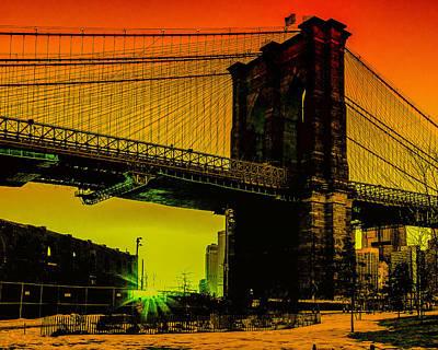 Photograph - Brooklyn Bridge Pop by Alissa Beth Photography