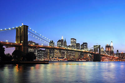 Photograph - Brooklyn Bridge by Paul Van Baardwijk
