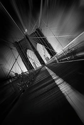 Bridge Road Photograph - Brooklyn Bridge by Sebastien Del Grosso