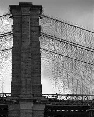 Photograph - Brooklyn Bridge Side View by Dave Beckerman