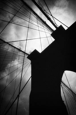 Photograph - Brooklyn Bridge Silhouette by Dave Beckerman