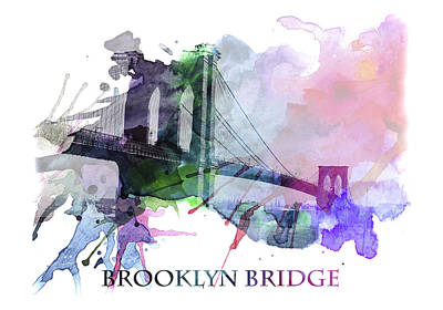 Brooklyn Bridge Mixed Media - Brooklyn Bridge by Steve K