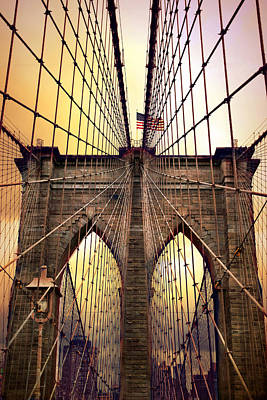 Brooklyn Bridge Sunrise Art Print