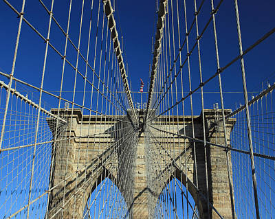 Art Print featuring the photograph Brooklyn Bridge Tower by Jose Oquendo