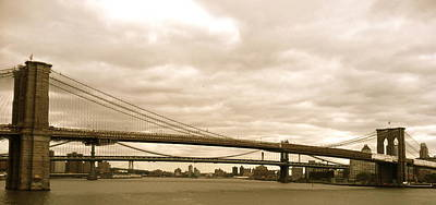 Photograph - Brooklyn Bridge by Tracey McQuain