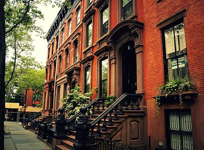 Vintage Style Photograph - Brooklyn Brownstone - New York City by Vivienne Gucwa