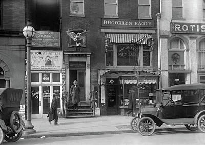 Brooklyn Storefronts Photograph - Brooklyn Daily Eagle, 1916 by Granger