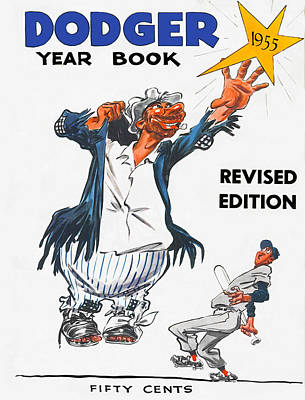 Brooklyn Dodgers 1955 Yearbook Art Print by Big 88 Artworks