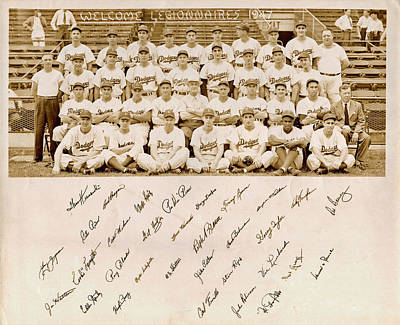 Best Sellers - Sports Royalty-Free and Rights-Managed Images - Brooklyn Dodgers Baseball Team by Bellesouth Studio