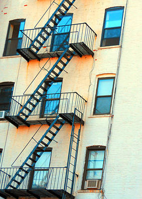 Nyc Fire Escapes Photograph - Brooklyn Fire Escape by Jon Woodhams