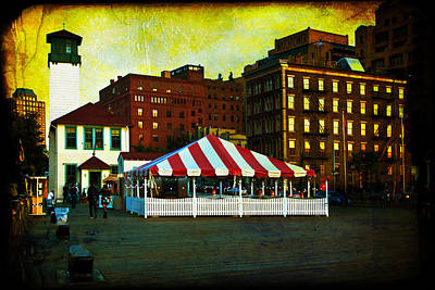 Photograph - Brooklyn - Fulton Ferry Landing by Mark E Tisdale