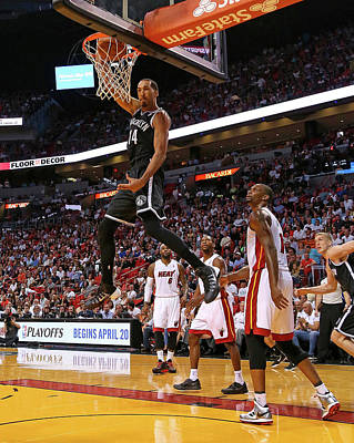 Photograph - Brooklyn Nets V Miami Heat by Mike Ehrmann