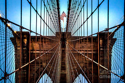 Landmarks Royalty Free Images - Brooklyn Perspective Royalty-Free Image by Az Jackson