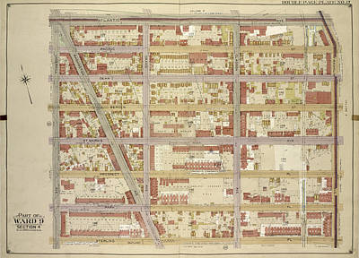Sterling Drawing - Brooklyn, Vol. 1, Double Page Plate No. 17 Part Of Ward 9 by Litz Collection