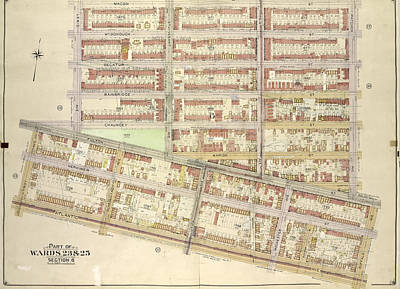 Macon Drawing - Brooklyn, Vol. 2, Double Page Plate No. 14 Part Of Wards 23 by Litz Collection