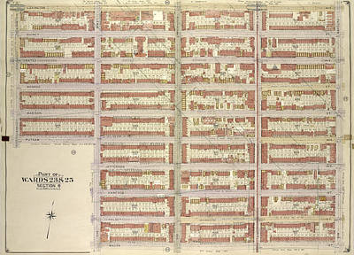 Macon Drawing - Brooklyn, Vol. 2, Double Page Plate No. 15 Part Of Wards 23 by Litz Collection