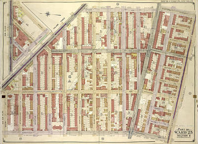 Macon Drawing - Brooklyn, Vol. 2, Double Page Plate No. 19 Part Of Ward 25 by Litz Collection
