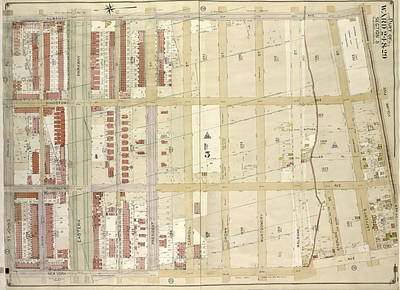 Douglass Drawing - Brooklyn, Vol. 2, Double Page Plate No. 27 Part Of Wards 24 by Litz Collection
