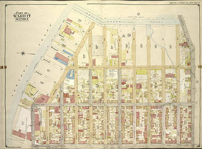 3.14 Drawing - Brooklyn, Vol. 3, Double Page Plate No. 14 Part Of Ward 17 by Litz Collection