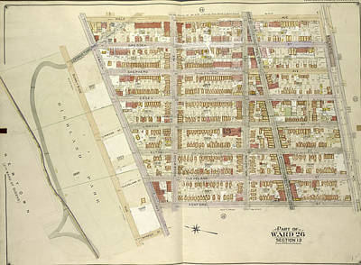 Brooklyn, Vol. 4, Double Page Plate No. 13 Part Of Ward 26 Print by Litz Collection