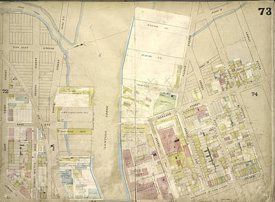 Brooklyn, Vol. 4, Double Page Plate No. 73 Map Bounded Art Print by Litz Collection