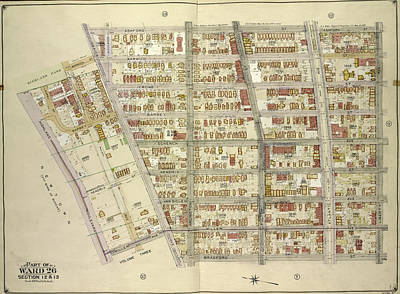 Brooklyn, Vol. 4, Double Page Plate No. 8 Part Of Ward 26 Print by Litz Collection