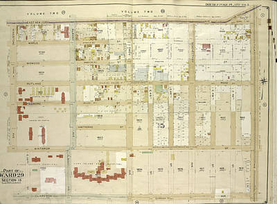 No 3 Drawing - Brooklyn, Vol. 5, Double Page Plate No. 3 Part Of Wards 29 by Litz Collection