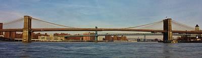Photograph - Brooklynn Bridge Of New York City by Bruce Bley