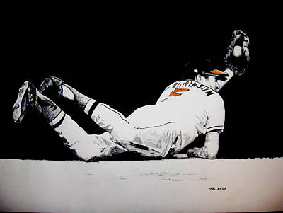 Baltimore Orioles Drawing - Brooks Robinson by Darryl Mallanda
