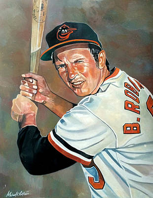Oriole Mixed Media - Brooks Robinson by Michael  Pattison