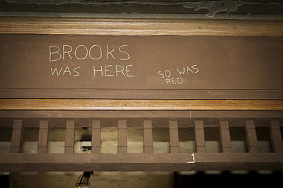 Brooks Was Here Art Print