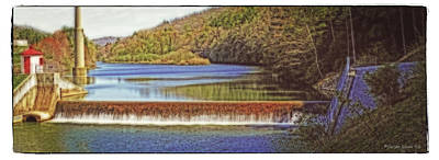 Photograph - Brookville Waterworks Dam Panorama by Darlene Bell
