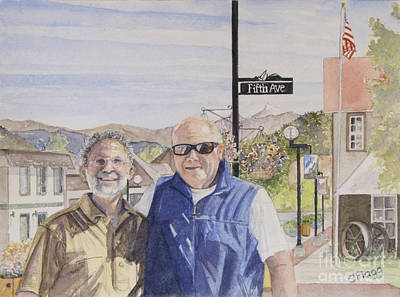 Art Print featuring the painting Bros by Carol Flagg