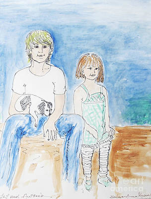 Mixed Media - Brother And Sister by Barbara Anna Knauf