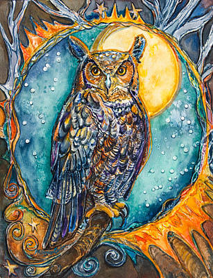 Brother Owl Art Print by Patricia Allingham Carlson
