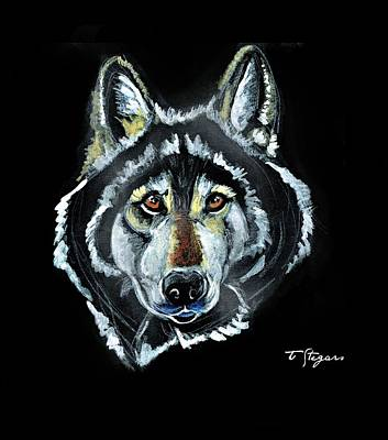 Wall Art - Painting - Brother Wolf by Tarja Stegars